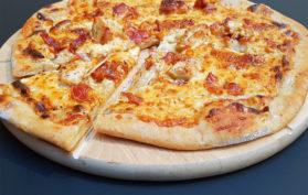 Chicken Carbonara Pizza