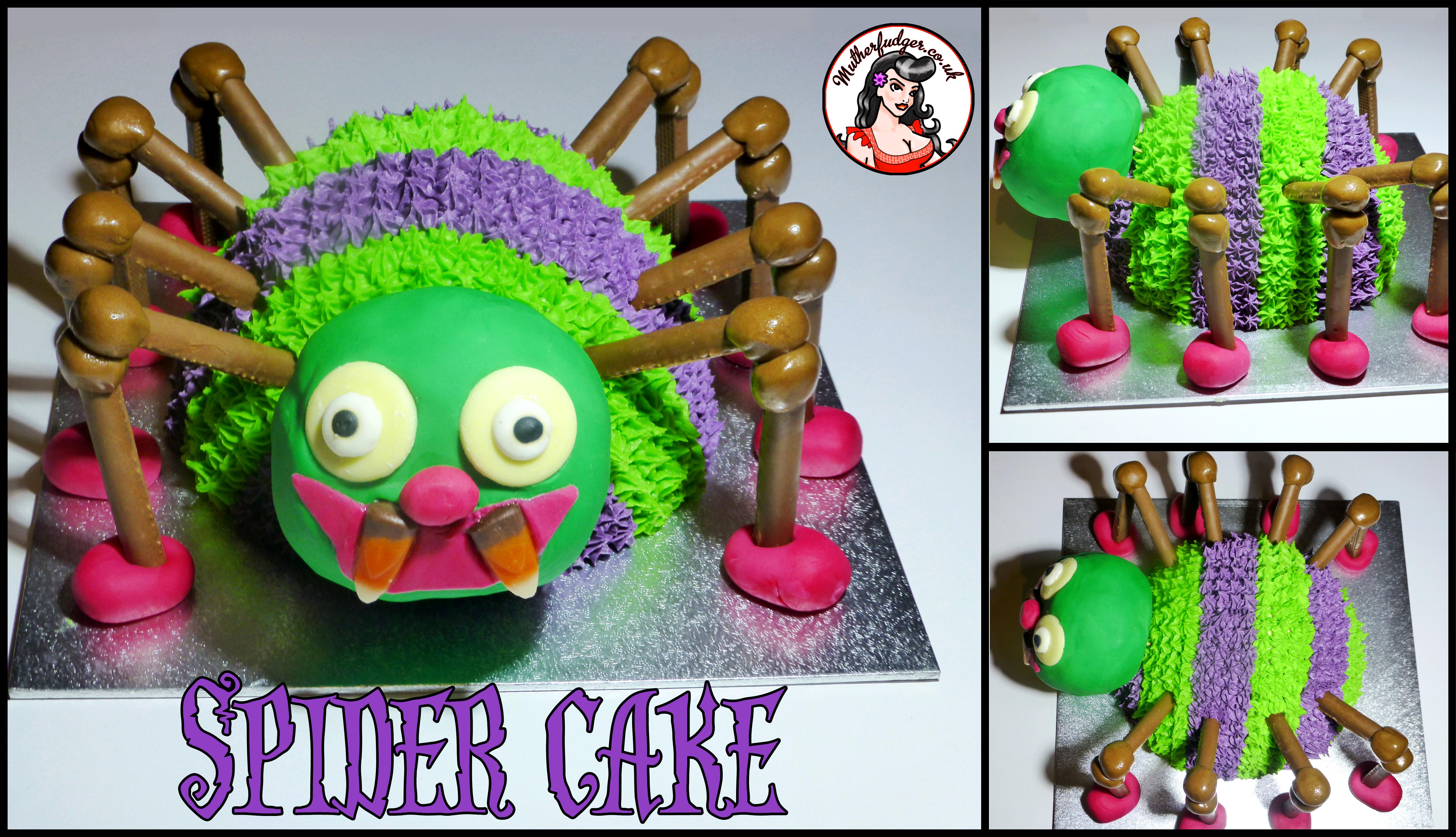 Tutorial Spider Cake Mutherfudger