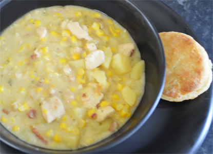 Tarragon Corn Chowder Recipe — Dishmaps