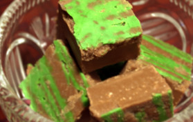 chocolate and peppermint fudge