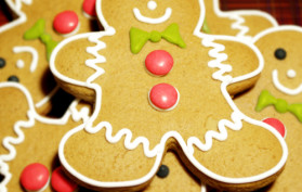 gingerbread cut-out cookies