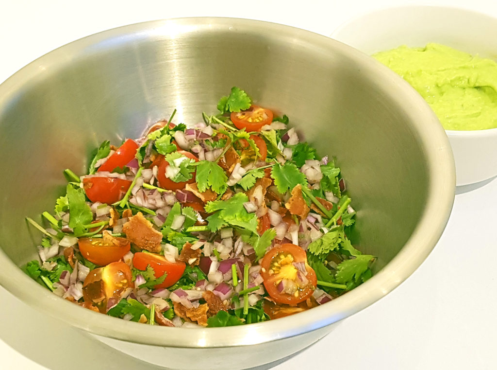Bacon and Tomato Salsa with Avocado Cream | Mutherfudger