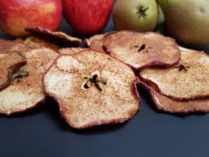 Spiced Apple and Pear Crisps