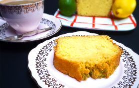 Lime and lemon drizzle cake