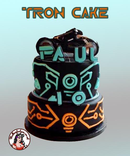 TRON Birthday Cake