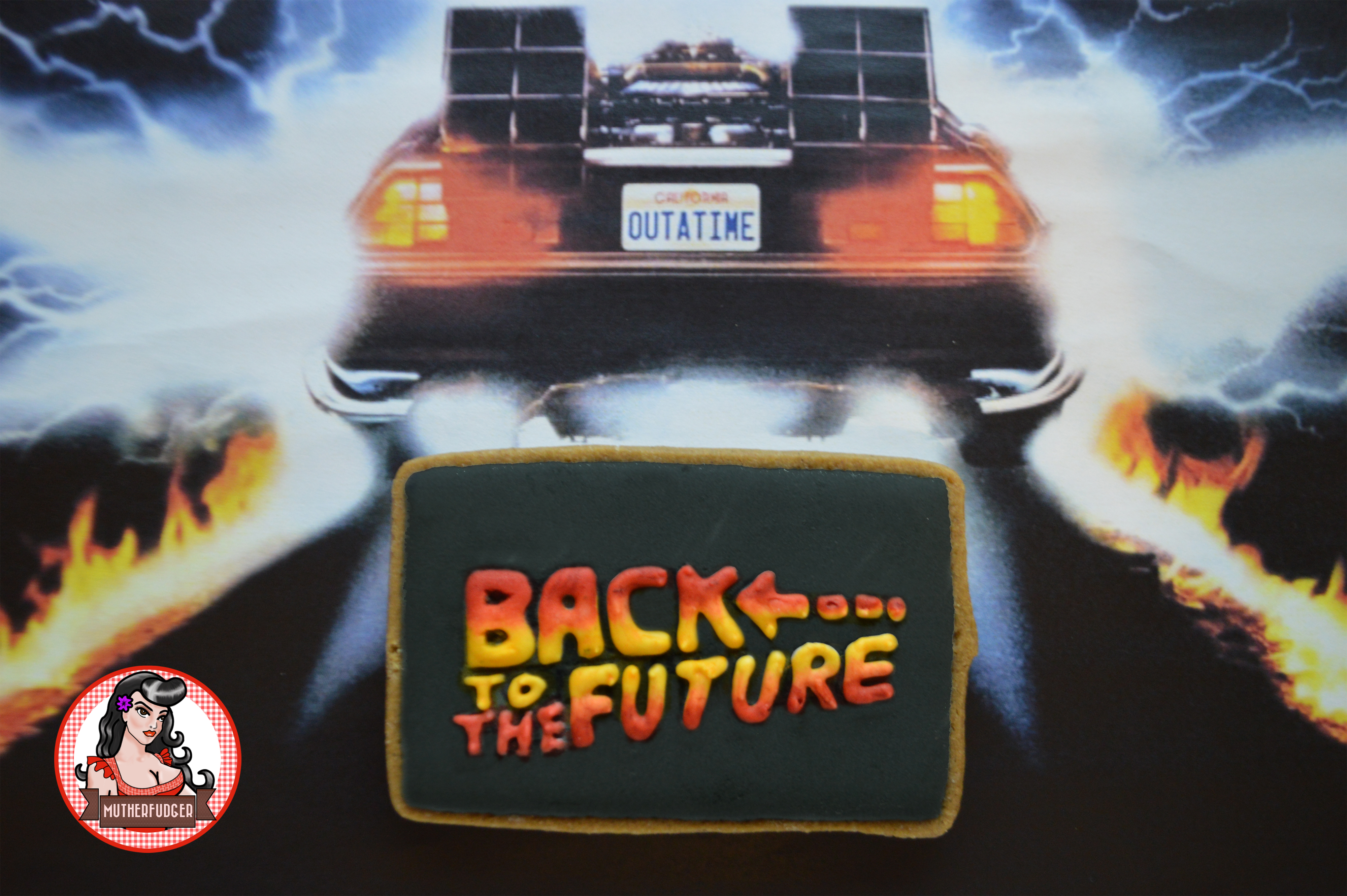 Back To The Future Logo Cookie